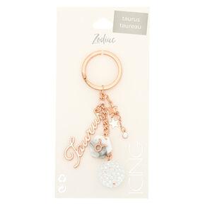 Zodiac Rose Gold Keychain - Taurus,