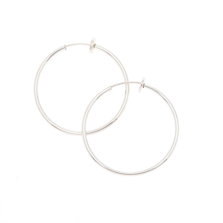 30MM Spring Clip Hoop Earrings,