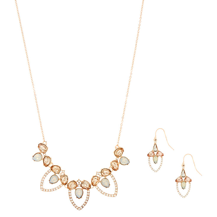 Rose Gold Vintage Crystal Jewelry Set