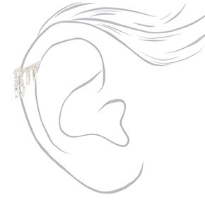 Silver Drape Dangle Cartilage Earring,
