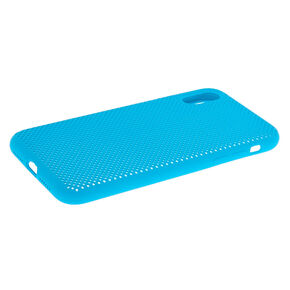 Blue Perforated Phone Case - Fits iPhone XR,