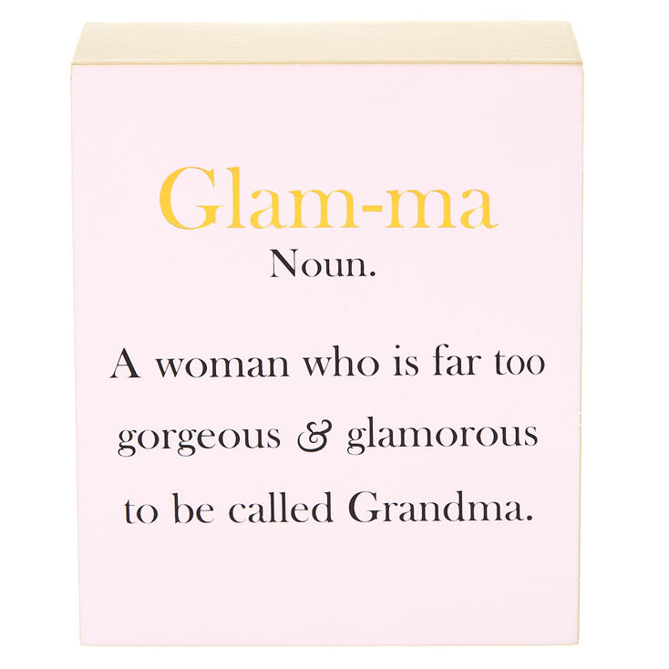 Glamma Block Canvas - Pink,