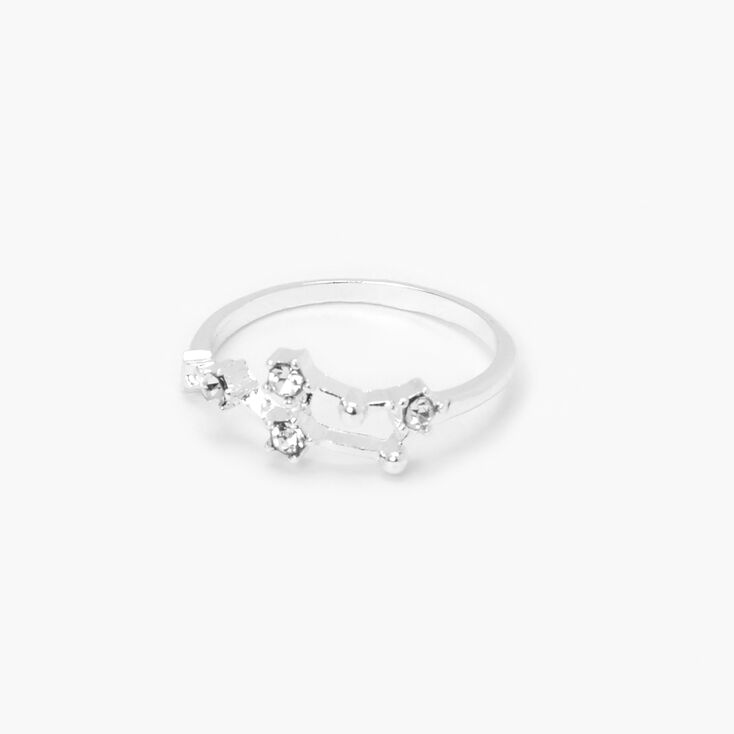 Silver Embellished Celestial Midi Ring,