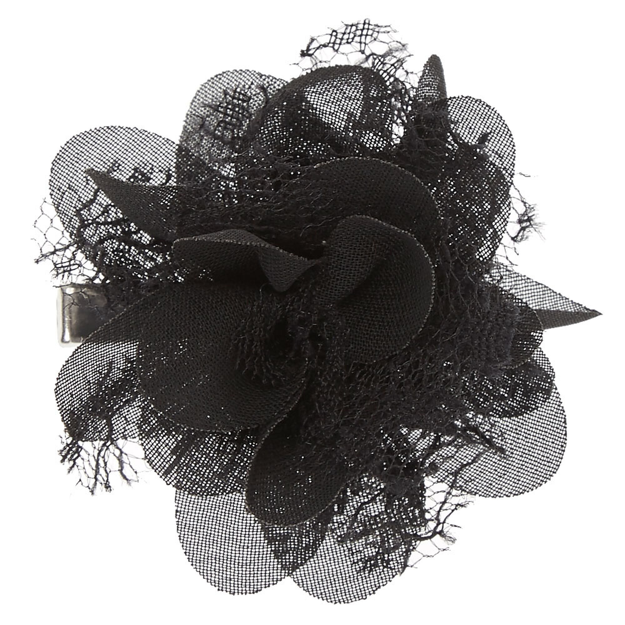 Black Chiffon Mini Flower Hair Clip Icing Us