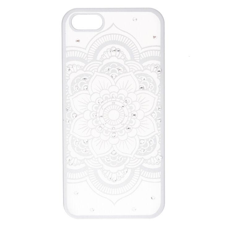 Silver Flower Mandala Phone Case - Fits iPhone 6/7/8 Plus,