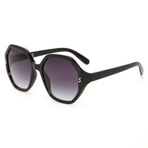 Oversized Octagon Sunglasses - Black,