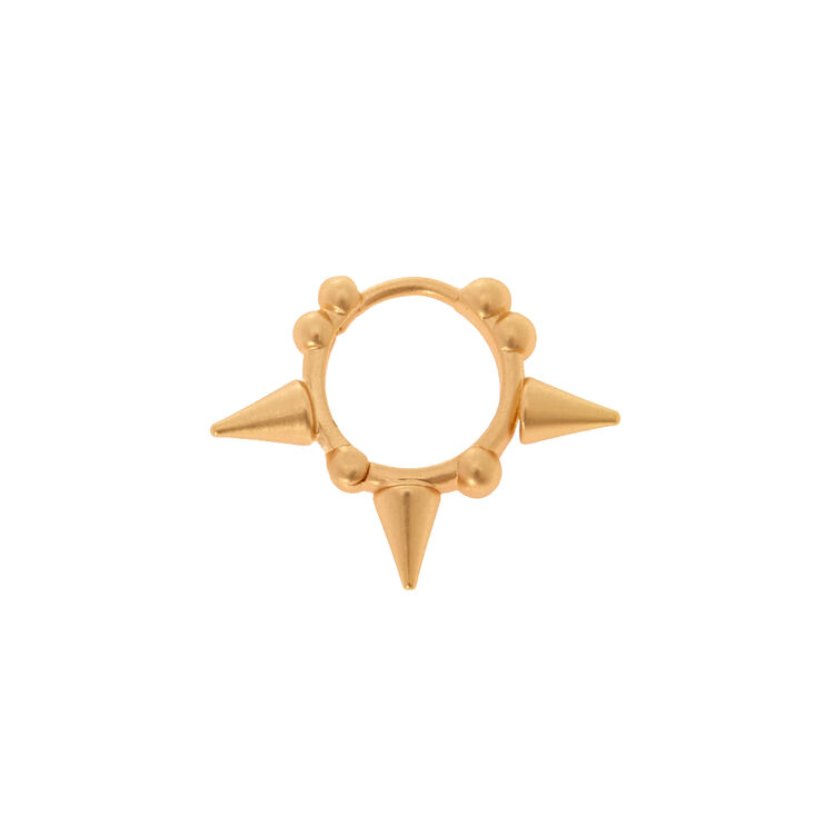 18G Gold Spike Cartilage Earring,