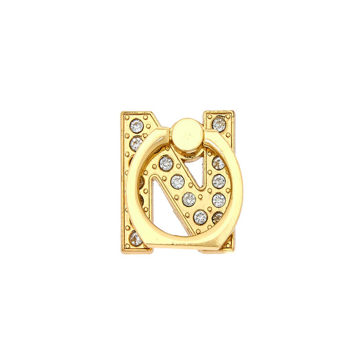 Gold Initial Ring Stand - N,
