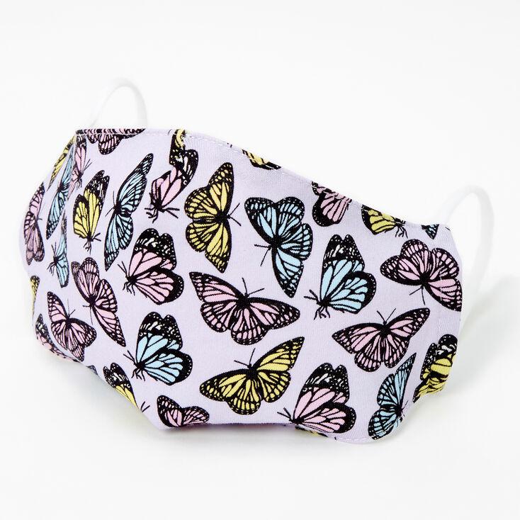 Cotton Pastel Butterflies Face Mask - Adult,