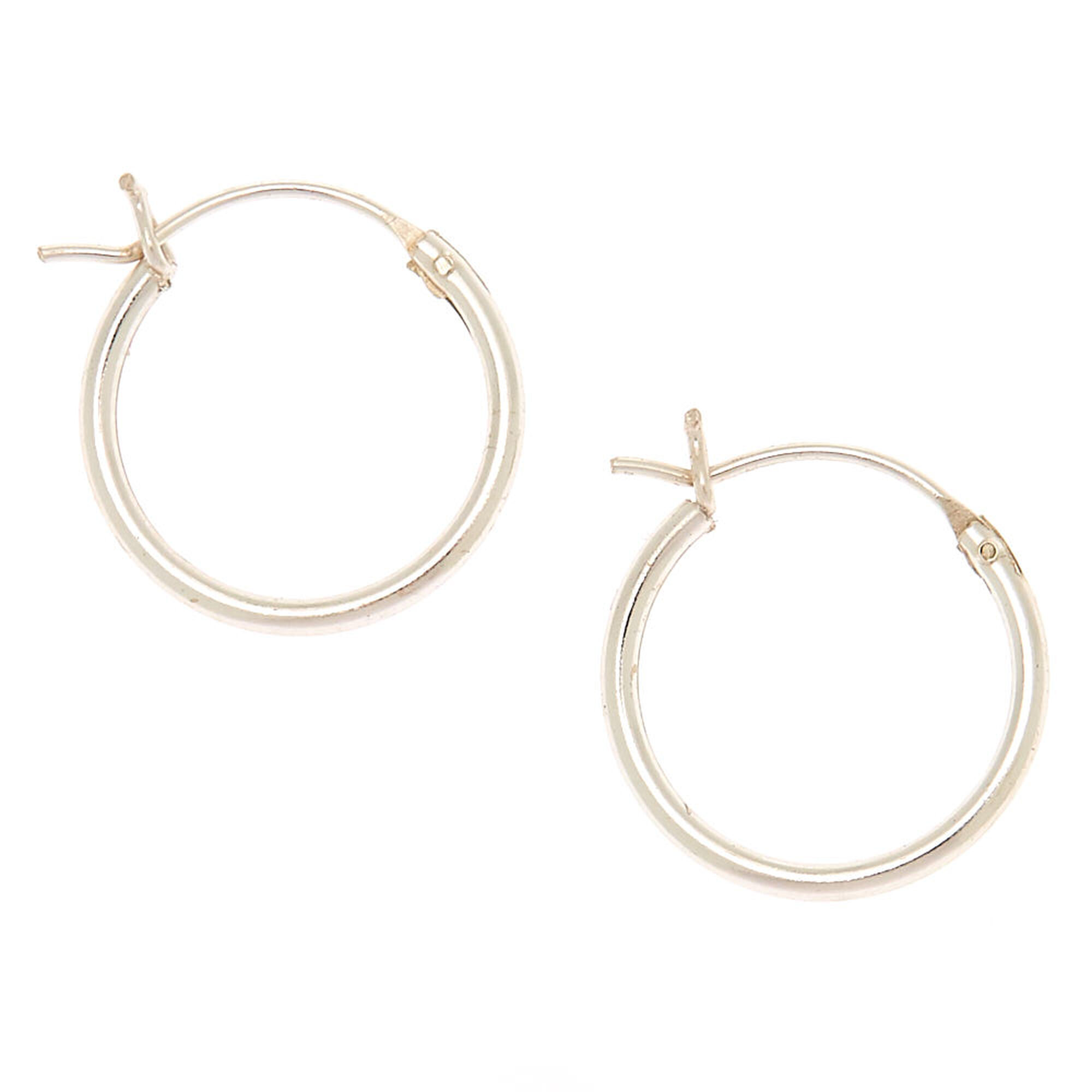 ef5761b9f Sterling Silver 14MM Hinged Hoop Earrings | Icing US