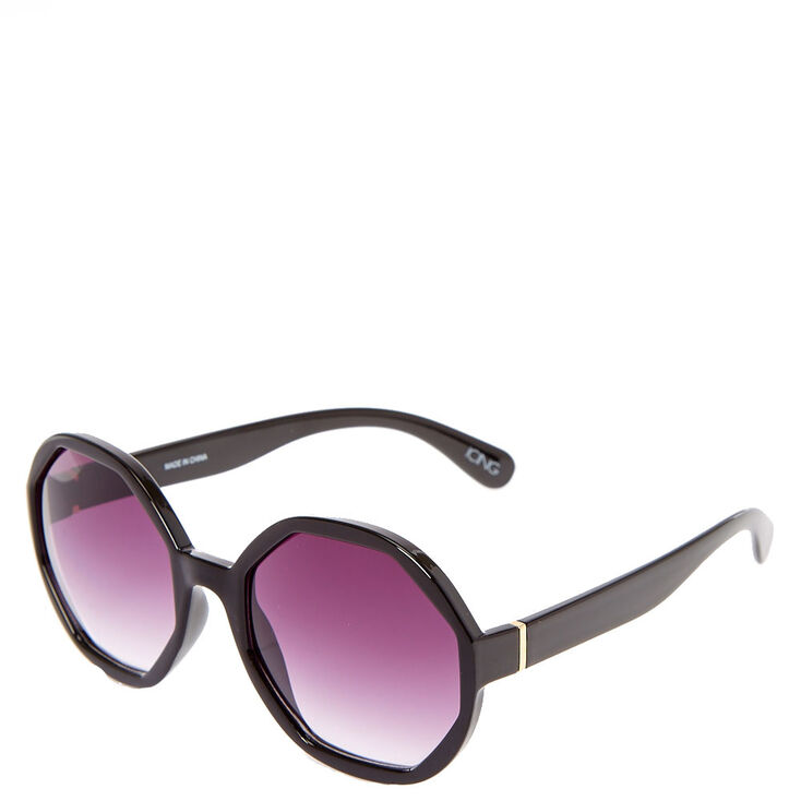 Hexagon Black Sunglasses,