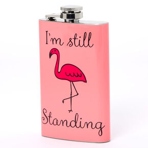 I'm Still Standing Flamingo Flask - Pink,