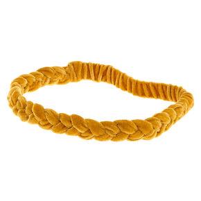 Suede Braided Headwrap - Mustard,