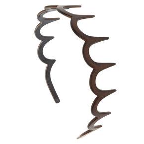 Wood Grain Comb Headband,