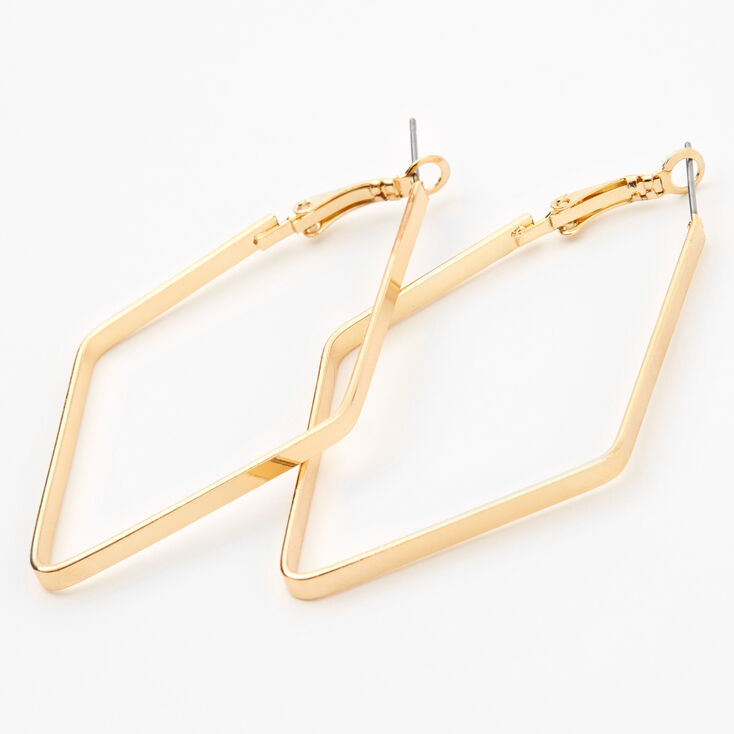 Gold 60MM Geometric Hoop Earrings,