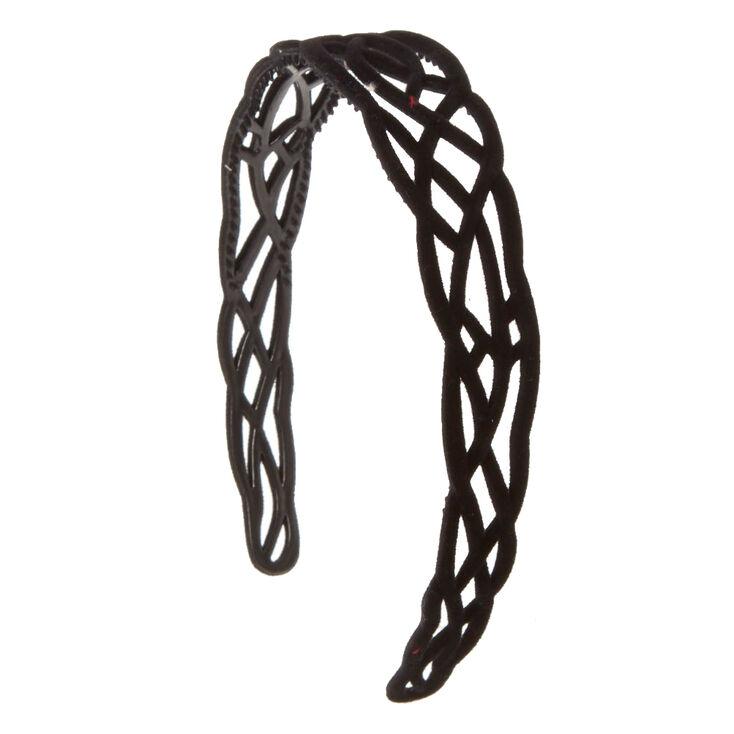 Celtic Black Velvet Headband,