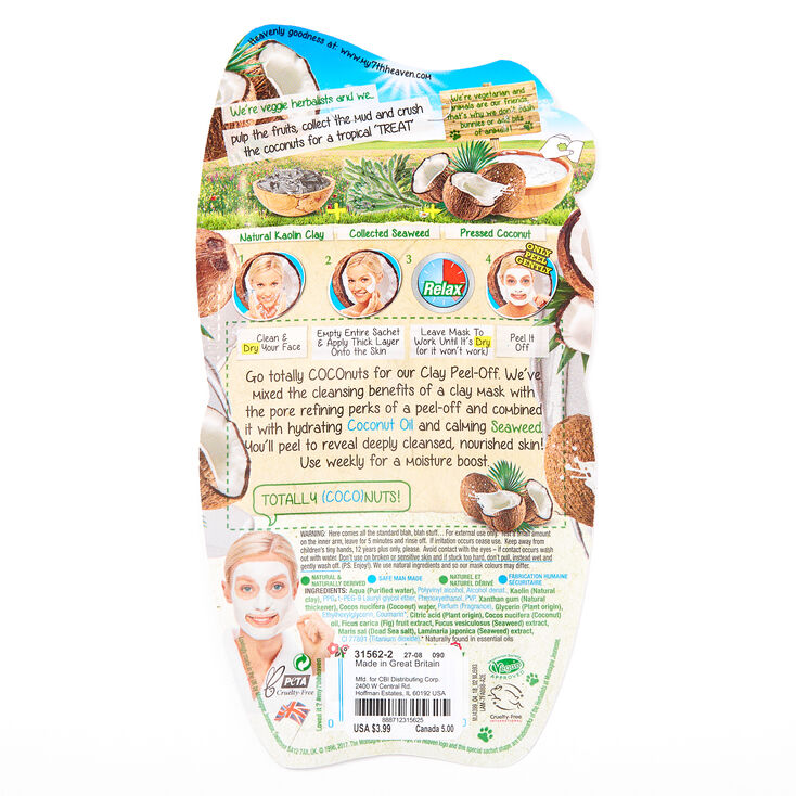 7th Heaven Coconut & Clay Peel Off Face Mask,