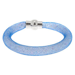 Mesh Bangle Bracelet - Denim Blue,
