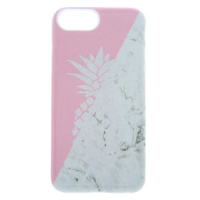 Pink and Marble Pineapple Protective Phone Case,