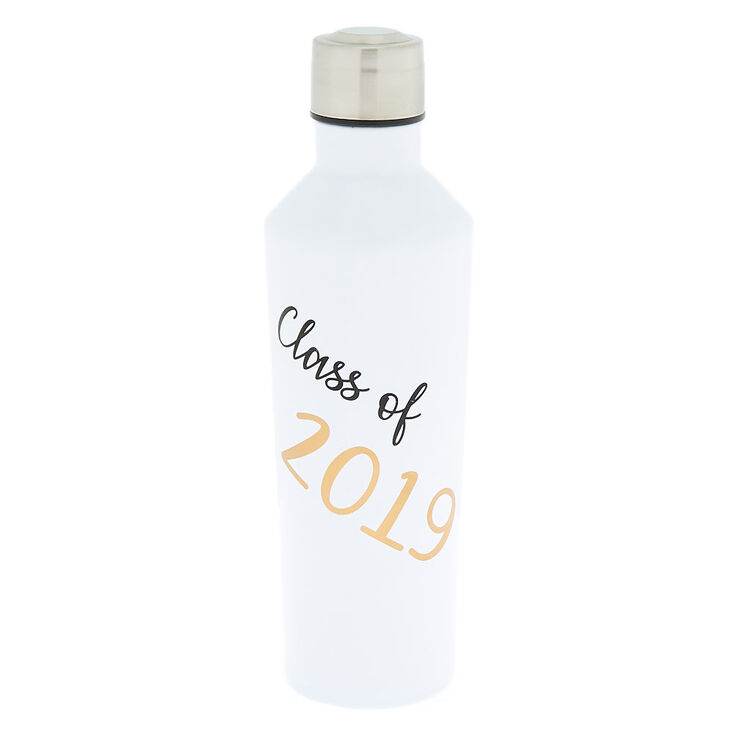 Class of 2019 Metal Water Bottle - White,