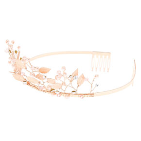 Rose Gold Woodland Princess Tiara,