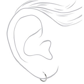 Sterling Silver Star Stud & Hoop Earrings - 2 Pack,