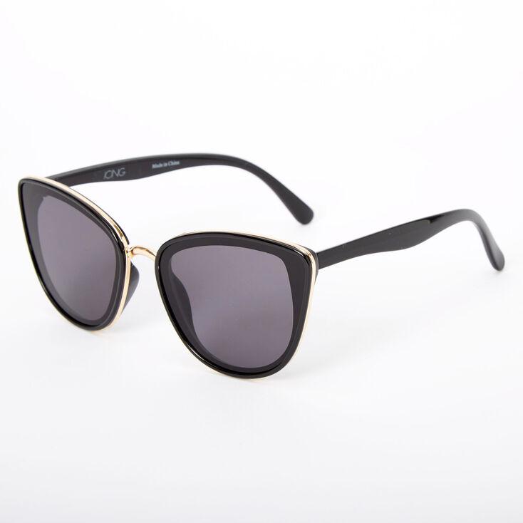 Chic Mod Cat Eye Sunglasses - Black,