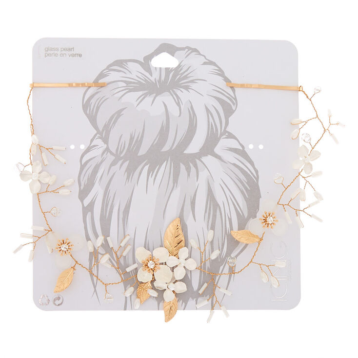 Gold Floral Hair Swag,