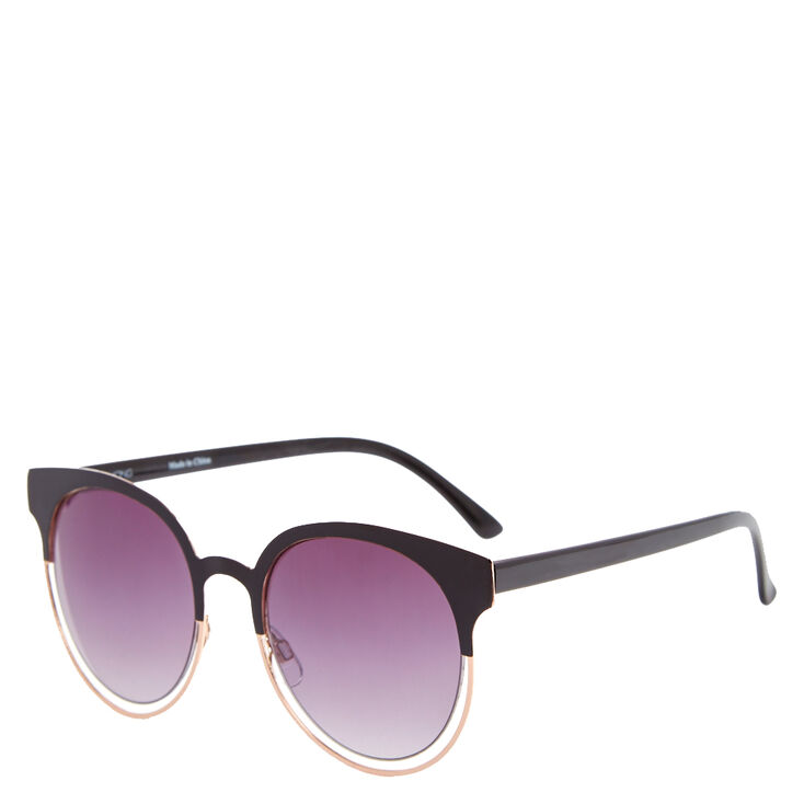 Black Mod Round Sunglasses,