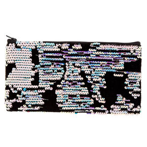 Velvet Reversible Sequin Pencil - Black,