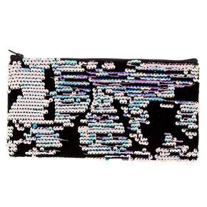 Velvet Reversible Sequin Pencil - Black,