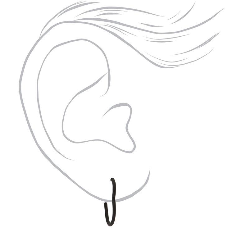 Mixed Metal Heart Stud & Hoop Earrings - 9 Pack,
