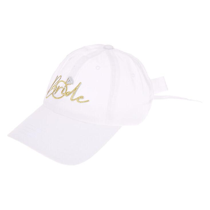 Bride Baseball Cap - White,