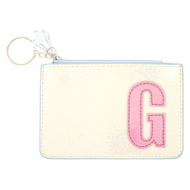Pearlescent Initial Coin Purse - G,