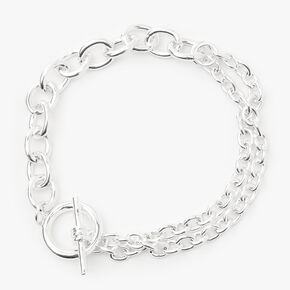 Silver Toggle Chain Link Bracelet,