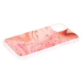 Marble Rose Gold Flake Phone Case - Fits iPhone 11,