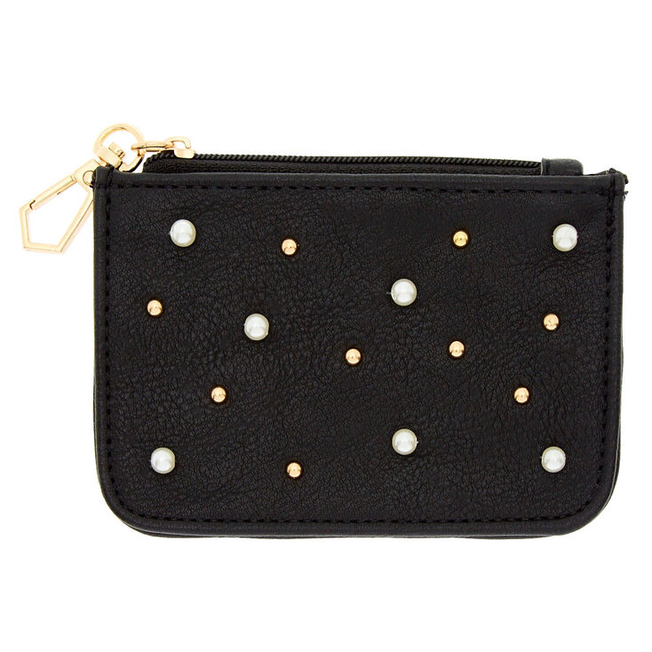 Black Pearl Studded Coin Purse,