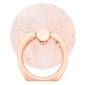 Rose Gold Marble Ring Stand,