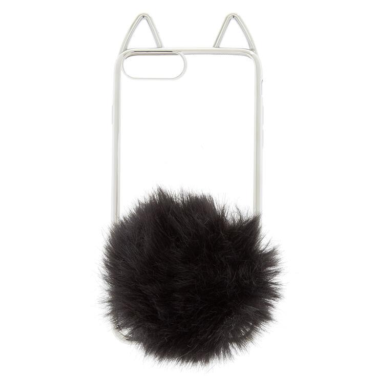 Black Cat Pom Phone Case - Fits iPhone 6/7/8 Plus,