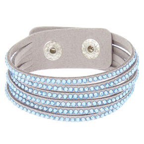 Studded Layered Statement Bracelet - Blue,