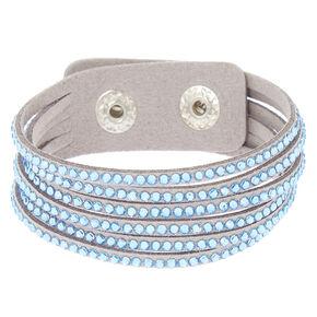 Studded Layered Statement Bracelet - Blue,