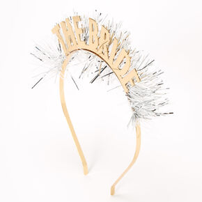 Tinsel Bride Headband - Gold,