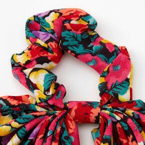 Floral Hair Scrunchie Scarf,