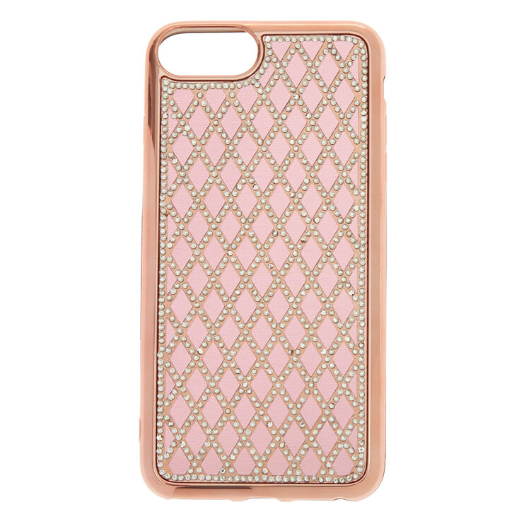 Rose Gold Quilted Phone Case - Fits iPhone 6/7/8 Plus,