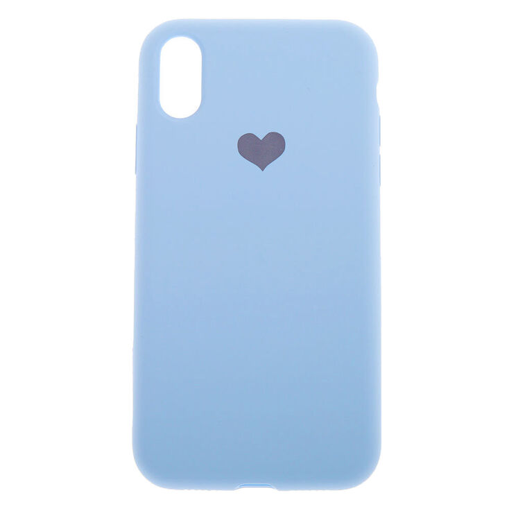 Baby Blue Heart Phone Case - Fits iPhone XR,