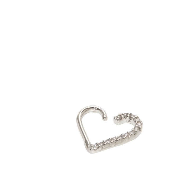 Half Heart Crystal Daith Earring,