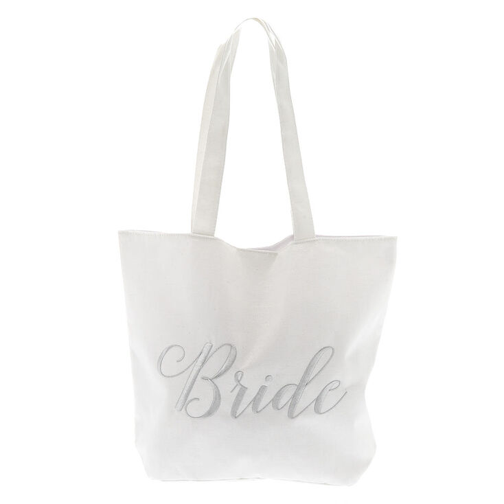 Bride Tote Bag - White,