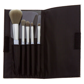 Marble Makeup Brush Set - Gray, 5 Pack,