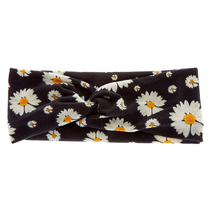 Daisy Twisted Headwrap - Black,