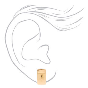 Gold 10MM Clip On Half Hoop Earrings,
